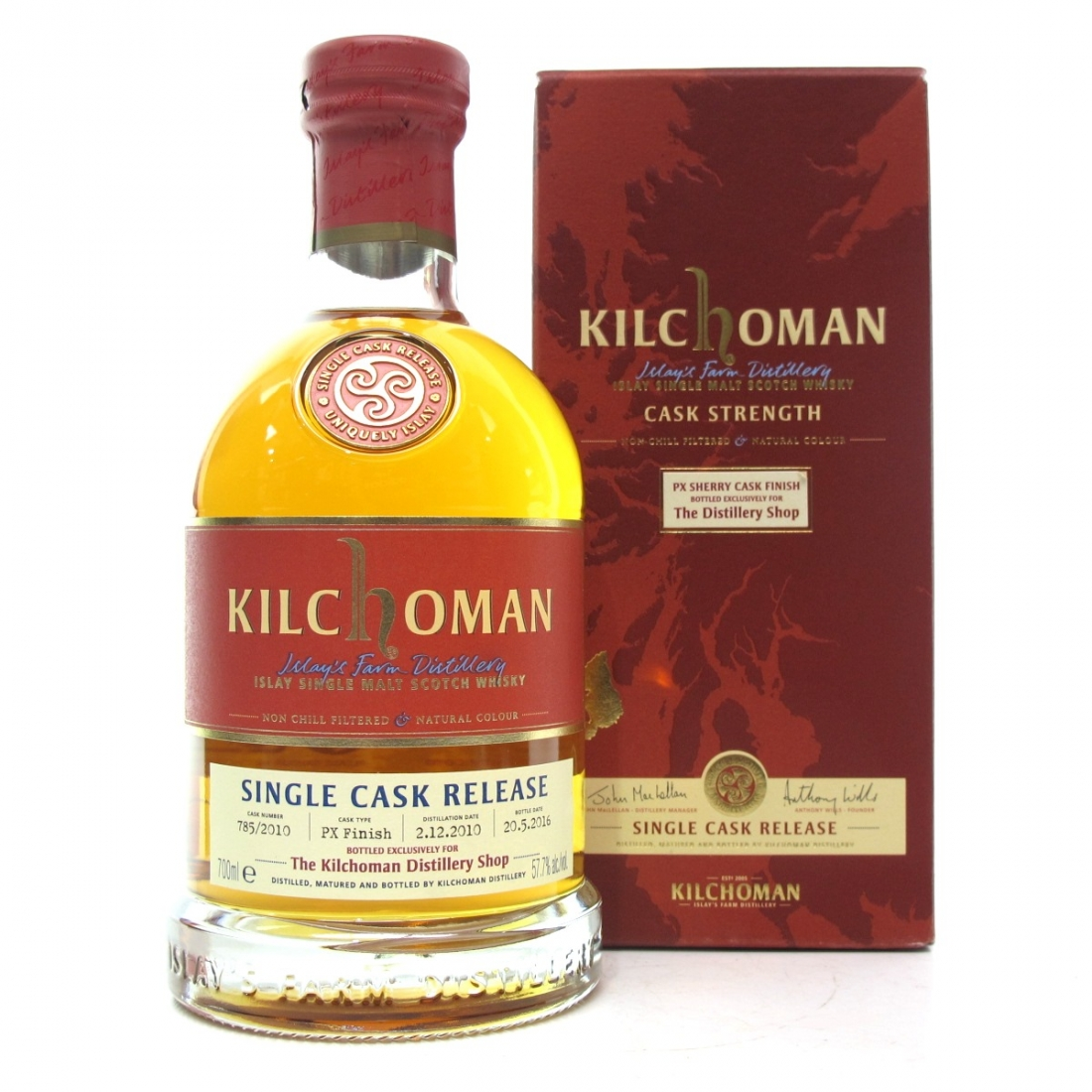 Kilchoman 2010 Single Cask PX Finish / Distillery Exclusive