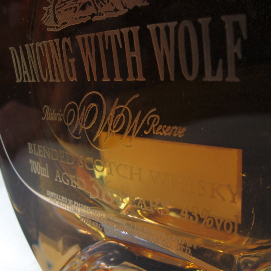 *Dancing With Wolf 36 Year Old Blended Scotch Decanter / Taiwanese Import