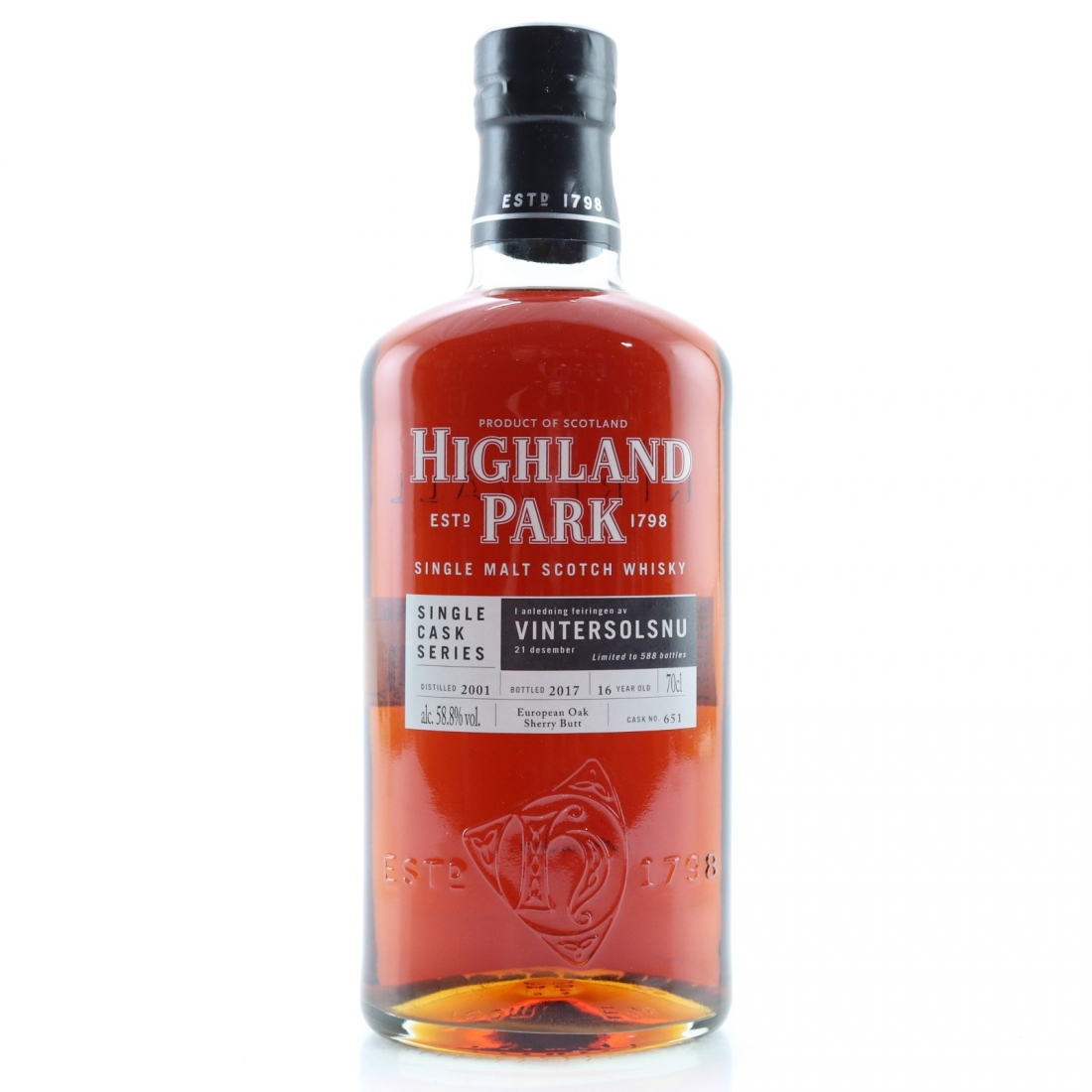 Highland Park 2001 Single Cask 16 Year Old #651/ Vintersolsnu
