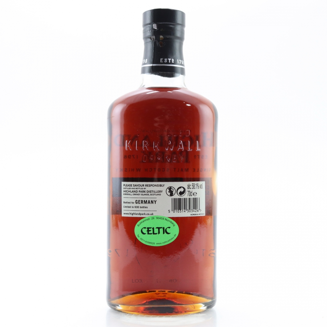Highland Park 2003 Single Cask 12 Year Old #5886 / Germany Exclusive