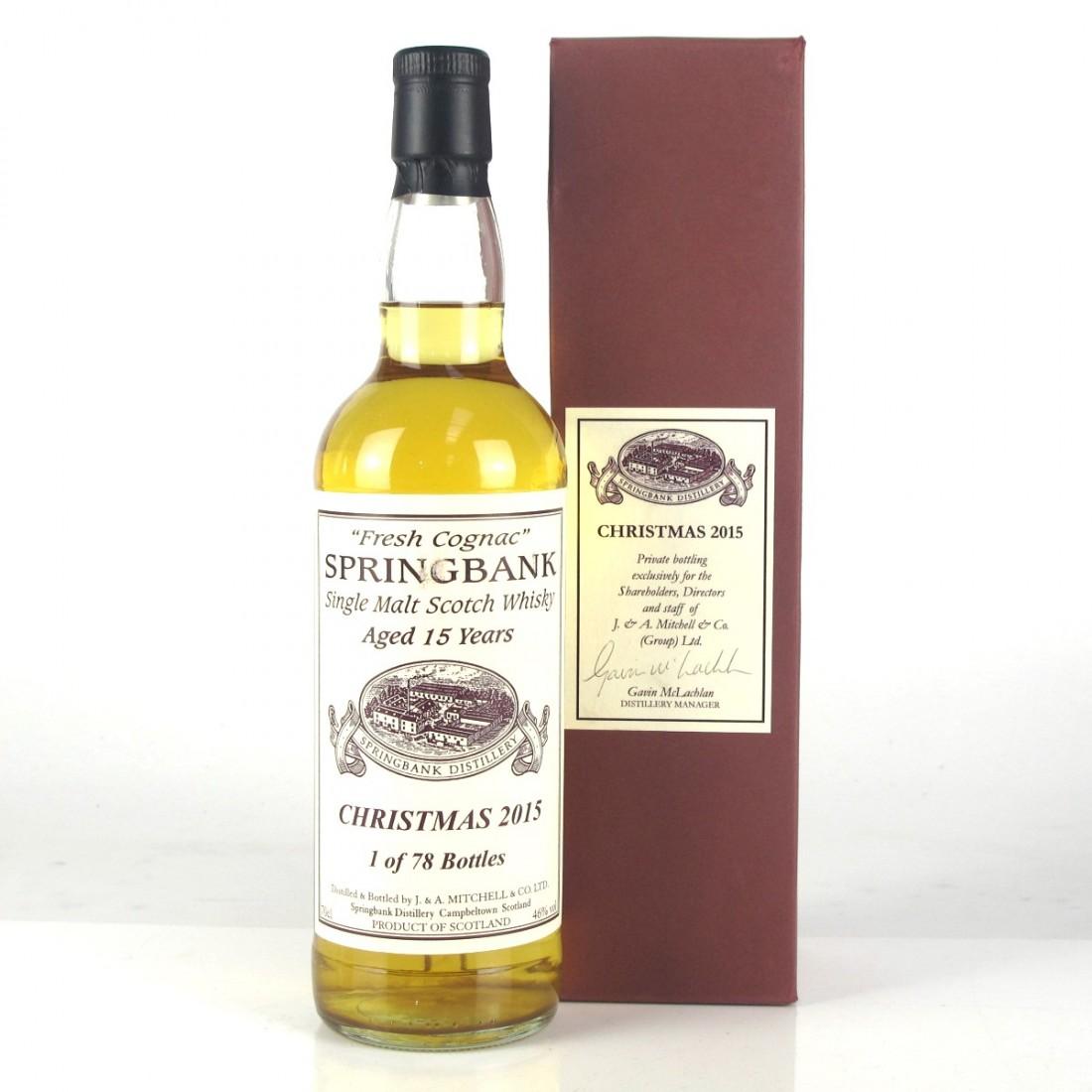 Springbank 15 Year Old Fresh Cognac / Christmas 2015