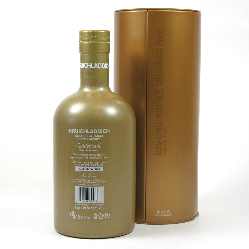 Bruichladdich 1984 Golder Still 23 Year Old Back