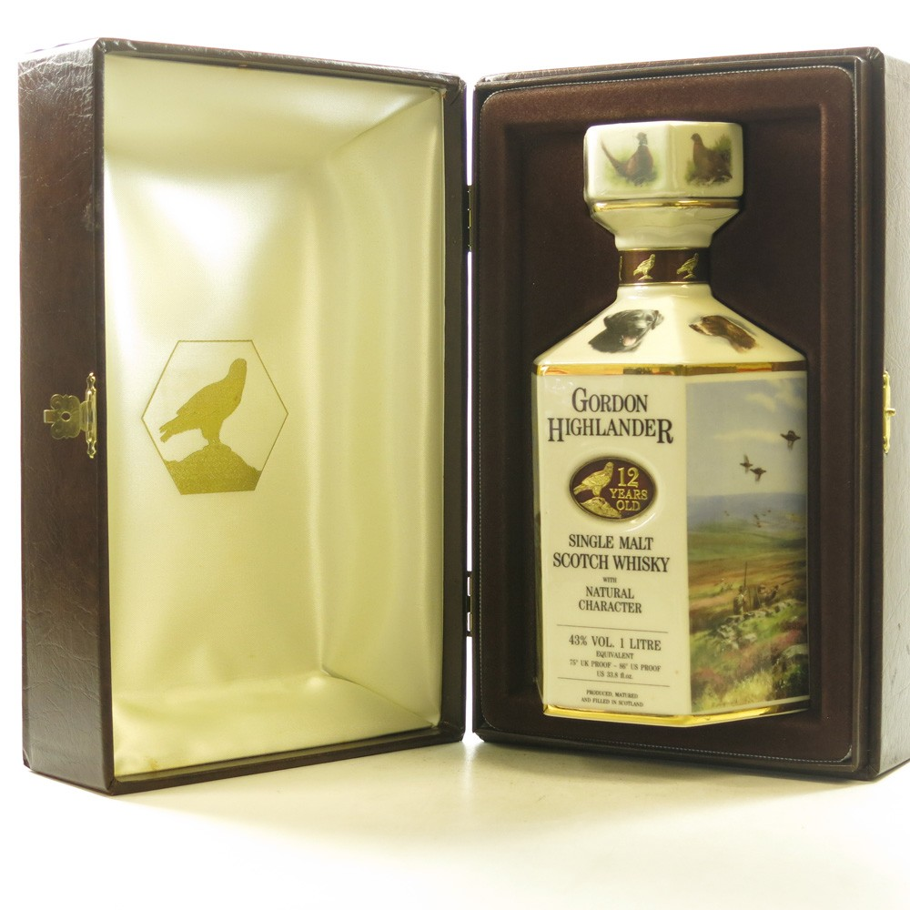Gordon Highlander 12 Year Old Wildlife Decanter 1 Litre