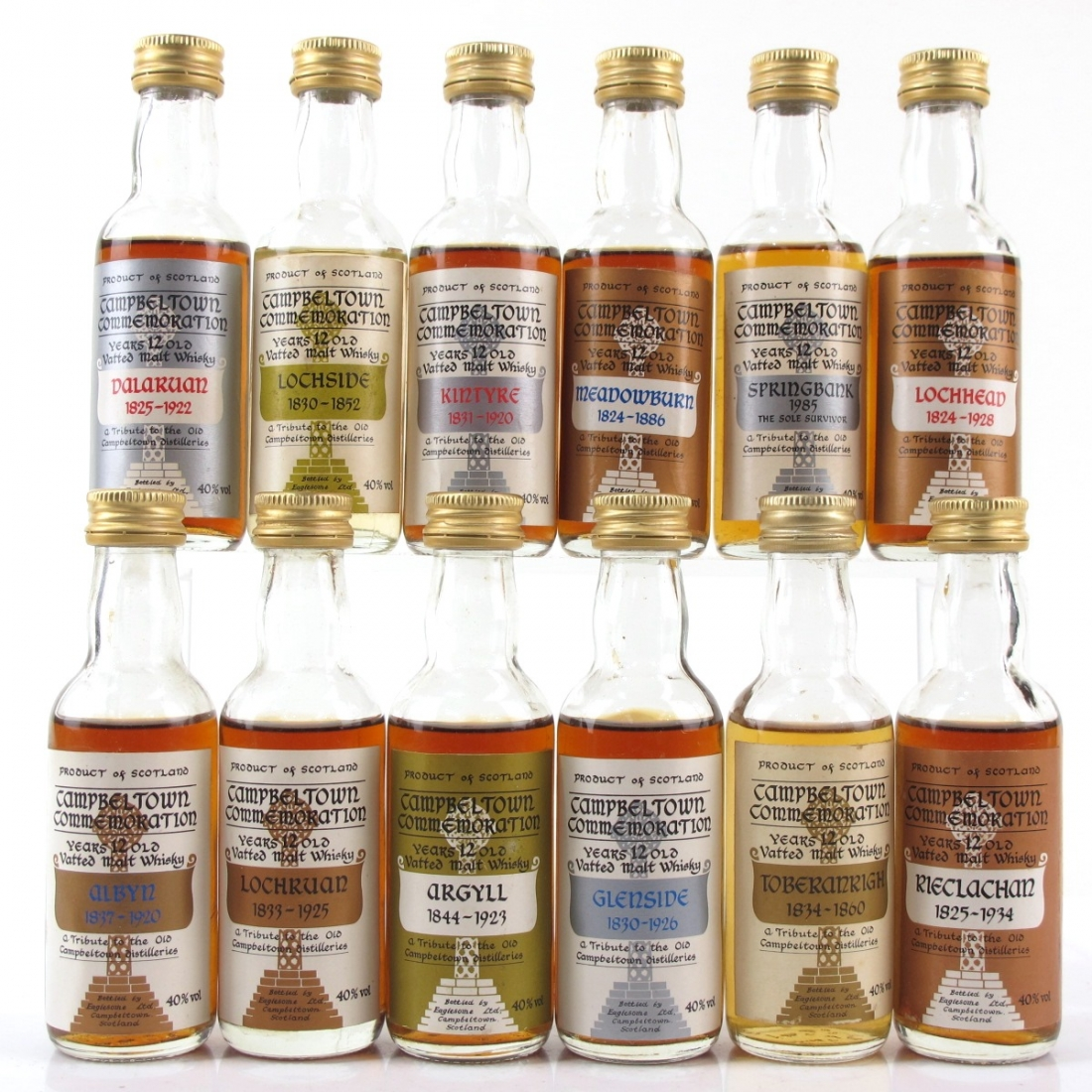 Campbeltown Commemoration Miniatures 12 x 5cl
