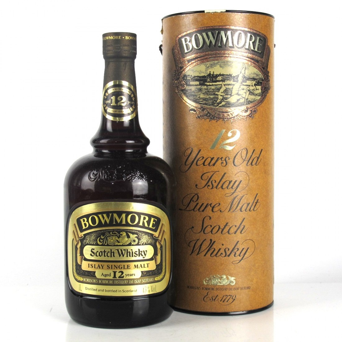 Bowmore 12 Year Old 1980s 1 Litre / Duty Free