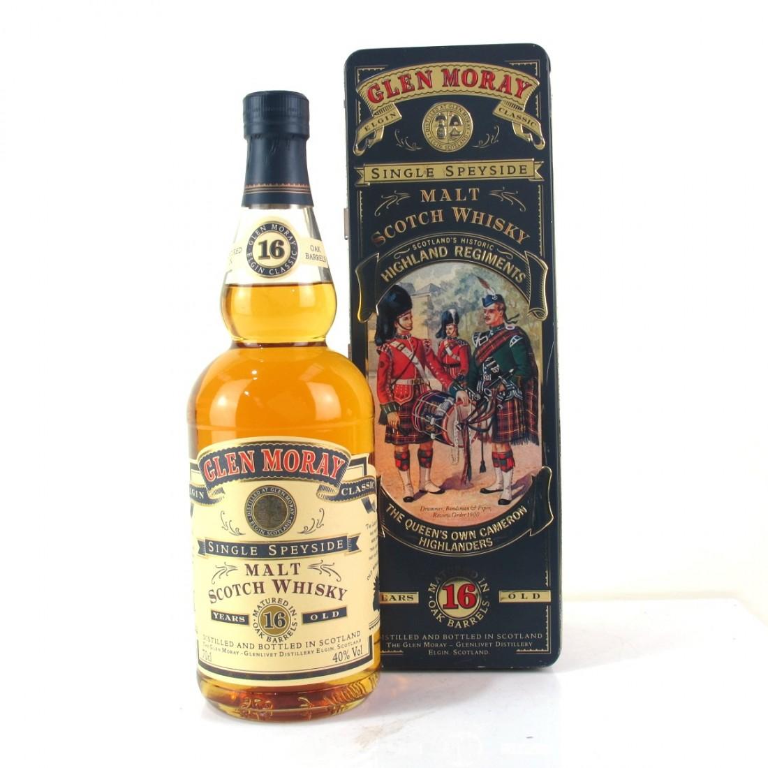 Glen Moray 16 Year Old / Queen's Own Cameron Highlanders