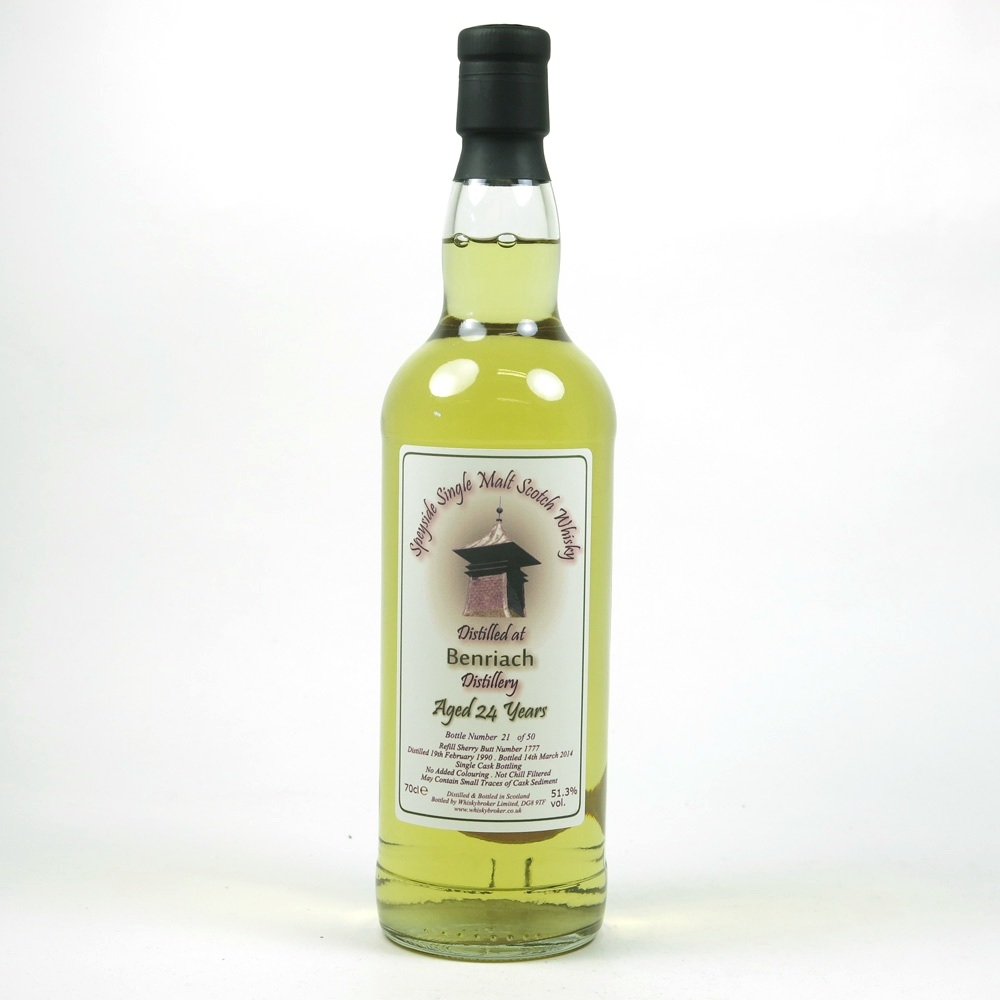 Benriach 1990 Whisky Broker 24 Year Old Front