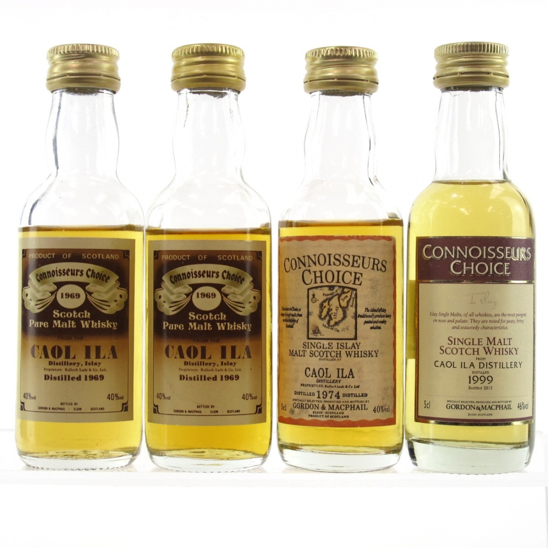 Caol Ila Gordon and MacPhail Miniature Selection 4 x 5cl