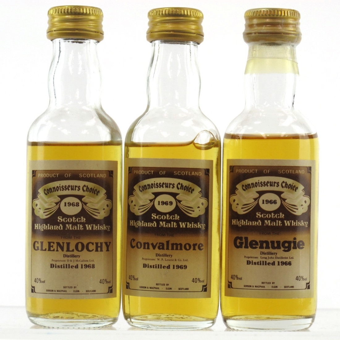 Closed Highland Gordon and MacPhail Miniatures 3 x 5cl