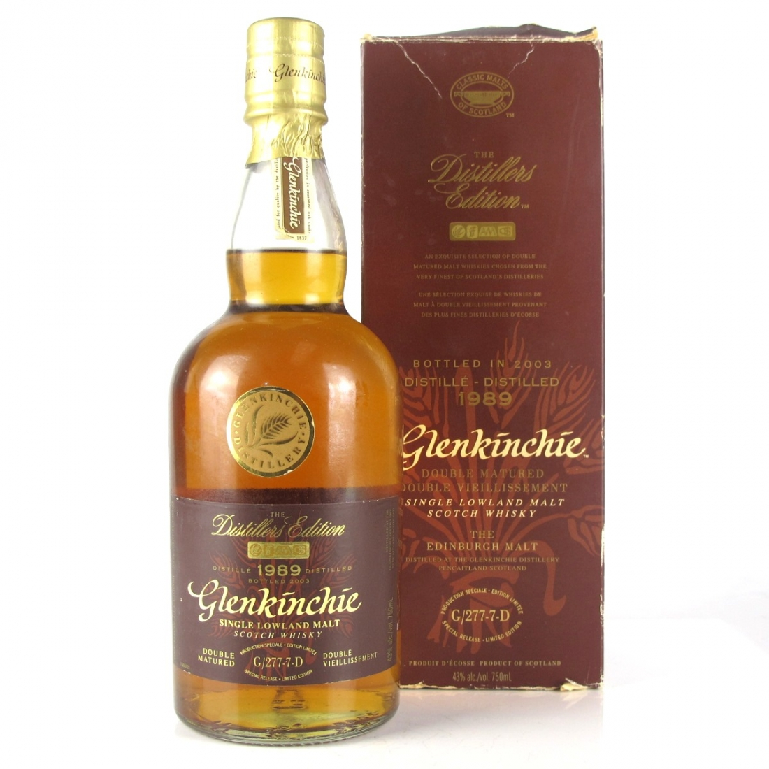 Glenkinchie 1989 Distillers Edition 2003 75cl
