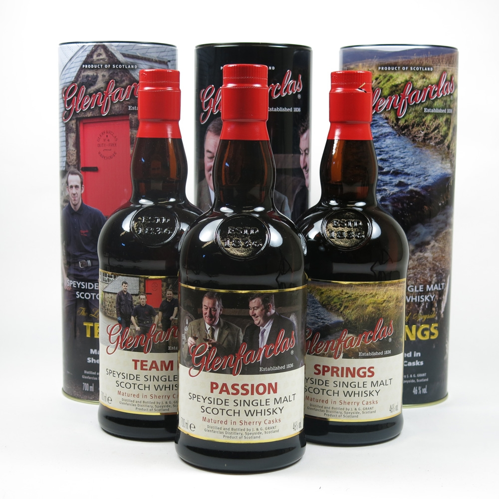 Glenfarclas The Legend of Speyside Trilogy 3 x 70cl Front
