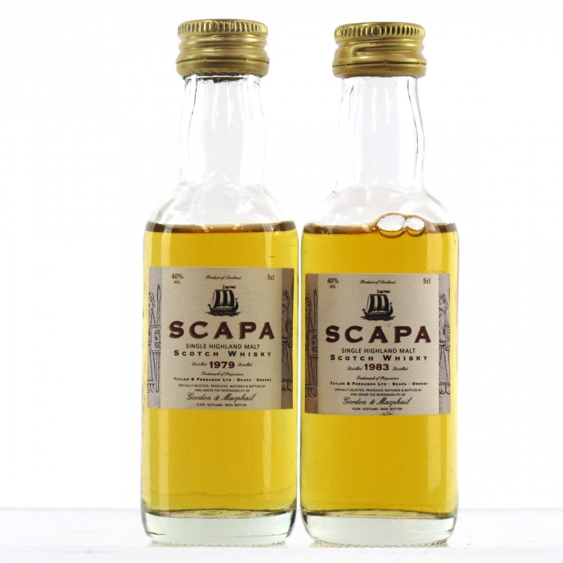 Scapa 1979 & 1983 Gordon and MacPhail Miniature 2 x 5cl