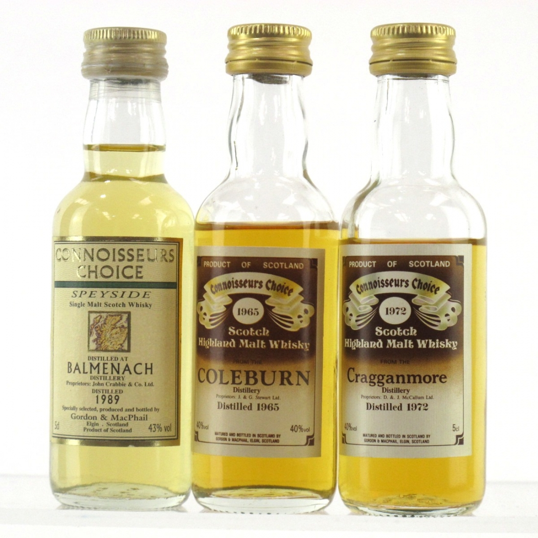 Speyside Miniature Selection 3 x 5cl / Including Coleburn 1965