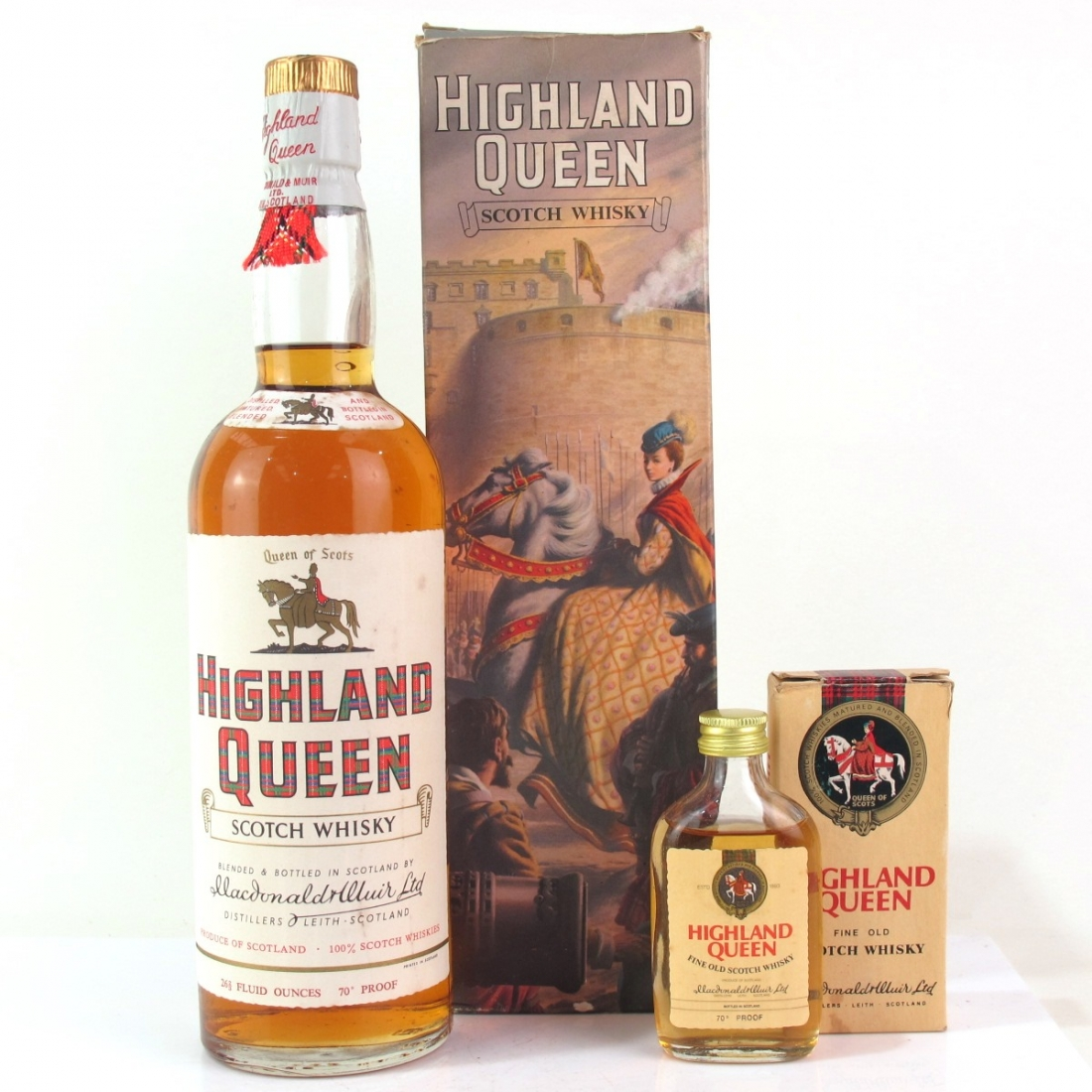 Highland Queen Scotch Whisky 1960/70s / includes Miniature