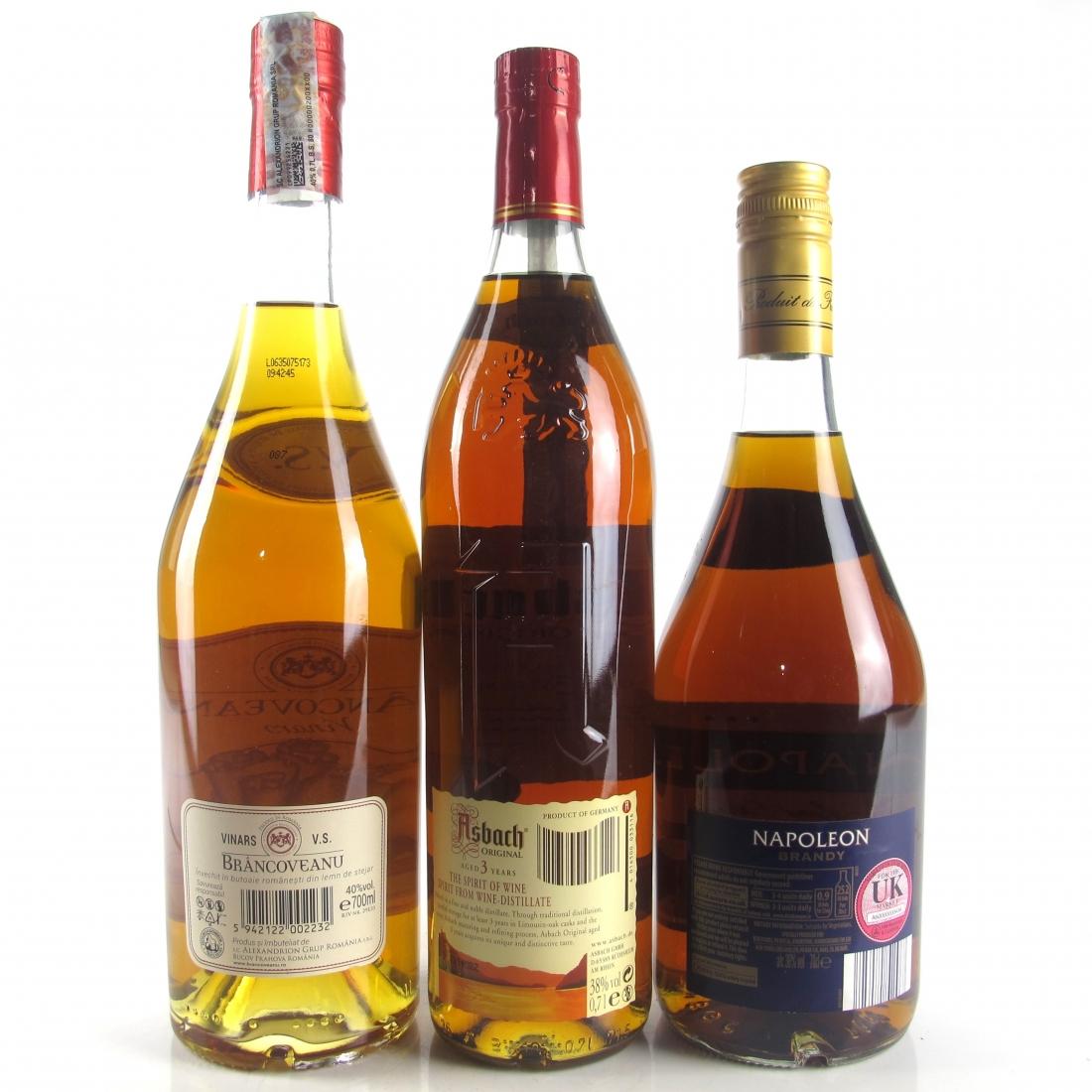 Miscellaneous Brandy Selection 3 x 70cl