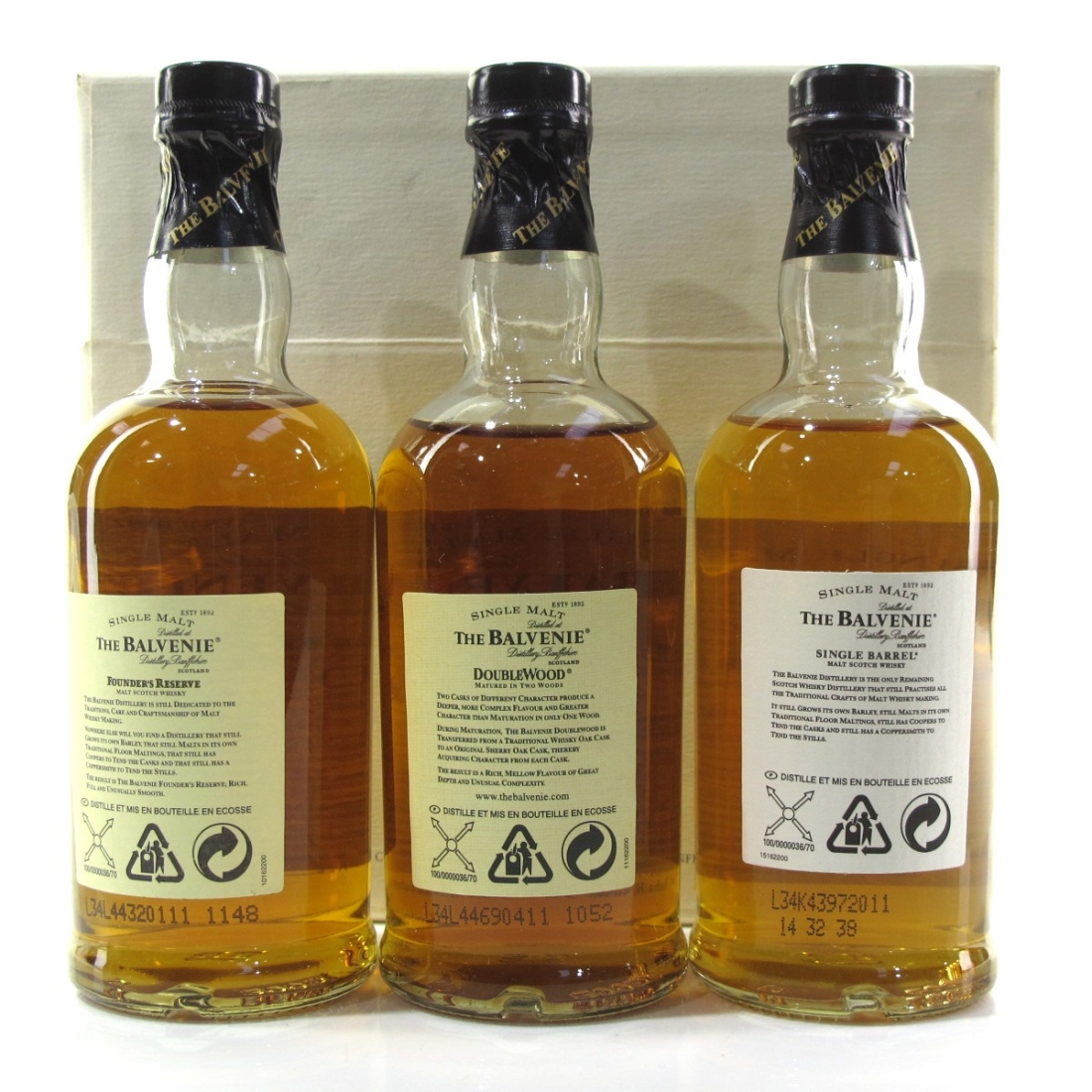 Balvenie Malt Master's Selection 3 x 20cl / Including 1974 25 Year Old Single Barrel