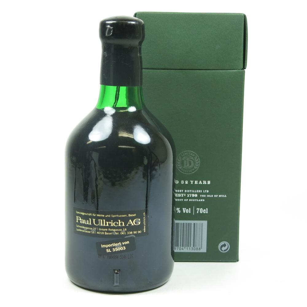 Tobermory 1972 Oloroso Sherry Finish 32 Year Old BAck
