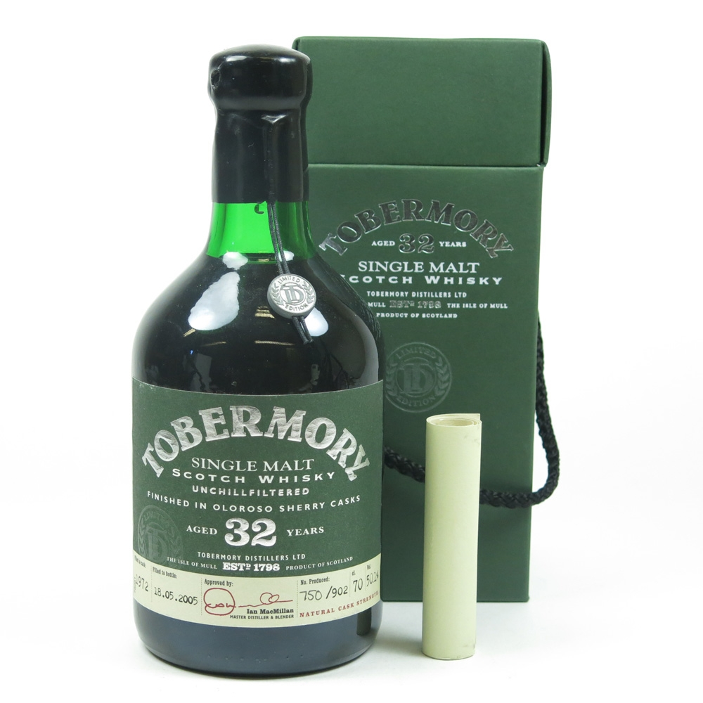 Tobermory 1972 Oloroso Sherry Finish 32 Year Old Certificate