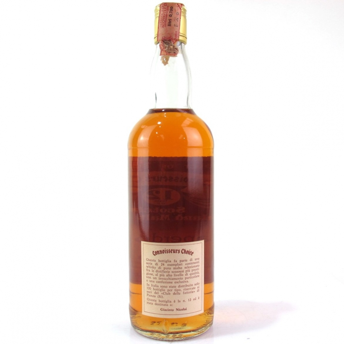 Caperdonich 1968 Gordon and MacPhail 12 Year Old / Pinerolo Import