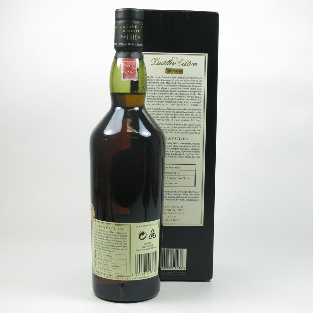 Lagavulin 1990 Distillers Edition Back