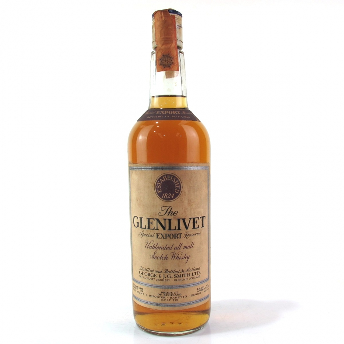 Glenlivet Special Export Reserve 1970s / Baretto Import