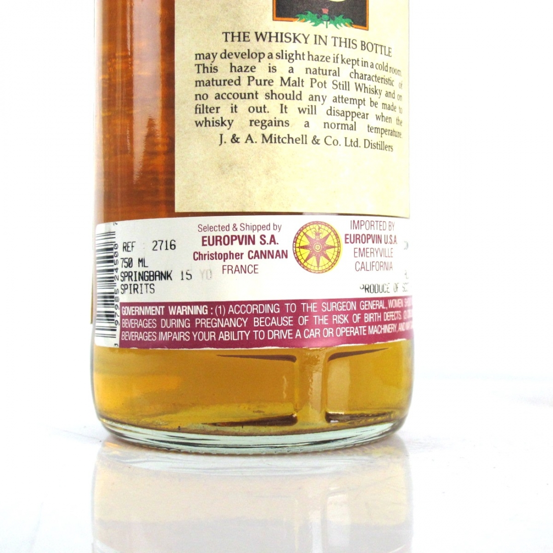 Springbank 15 Year Old 'Green Thistle' 1990s 75cl / US Import