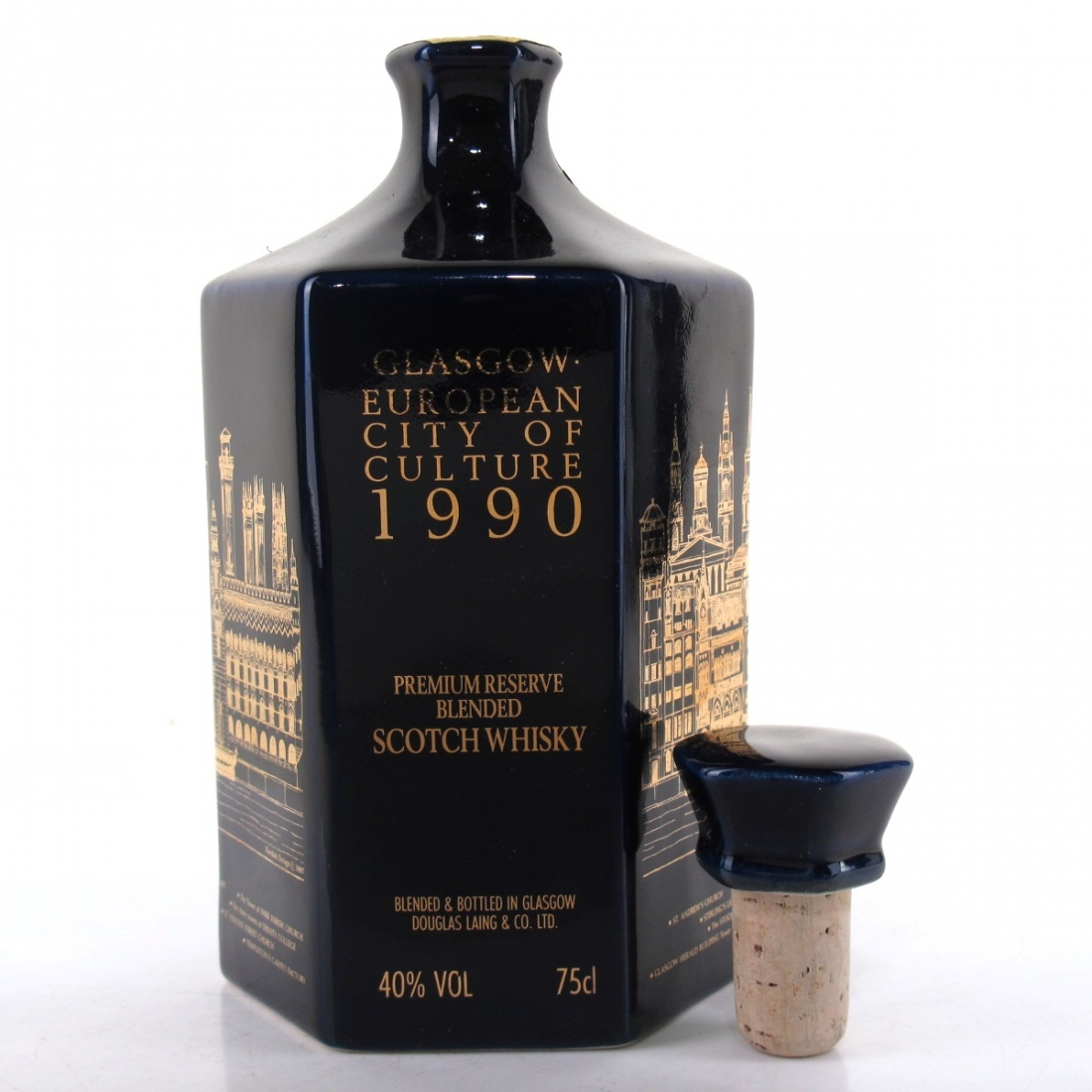Glasgow European City of Culture Decanter 1990