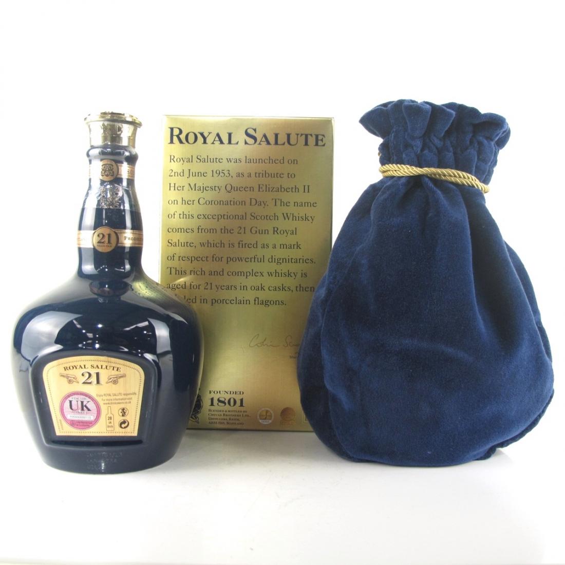Chivas 21 Year Old Royal Salute / Sapphire Flagon