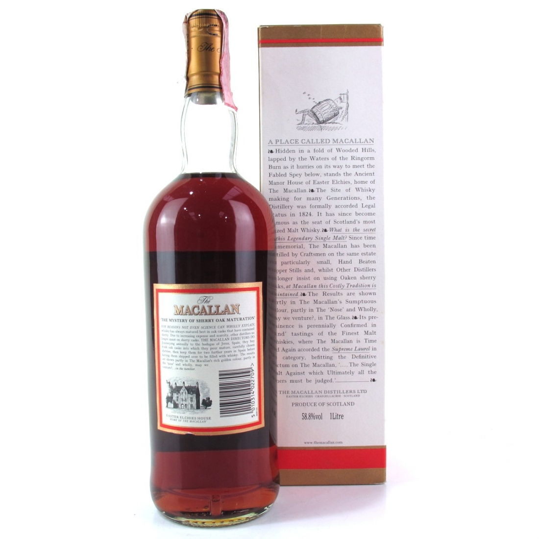 Macallan 10 Year Old Cask Strength 1 Litre