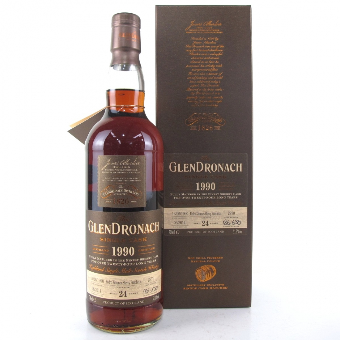 Glendronach 1990 Single Cask 24 Year Old #2970