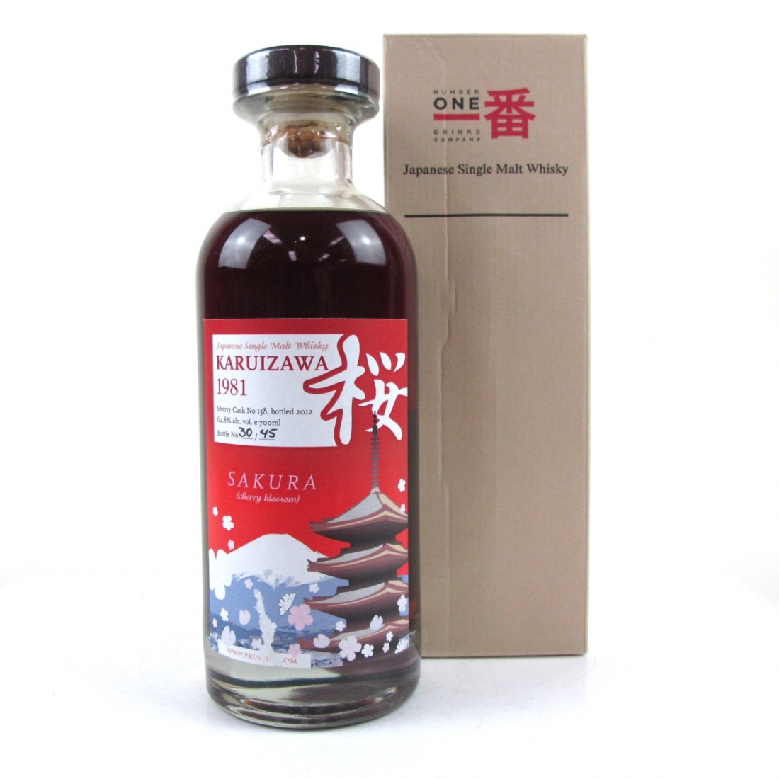 Karuizawa 1981 Single Cask #158 / Sakura Cask - Only 45 Bottles