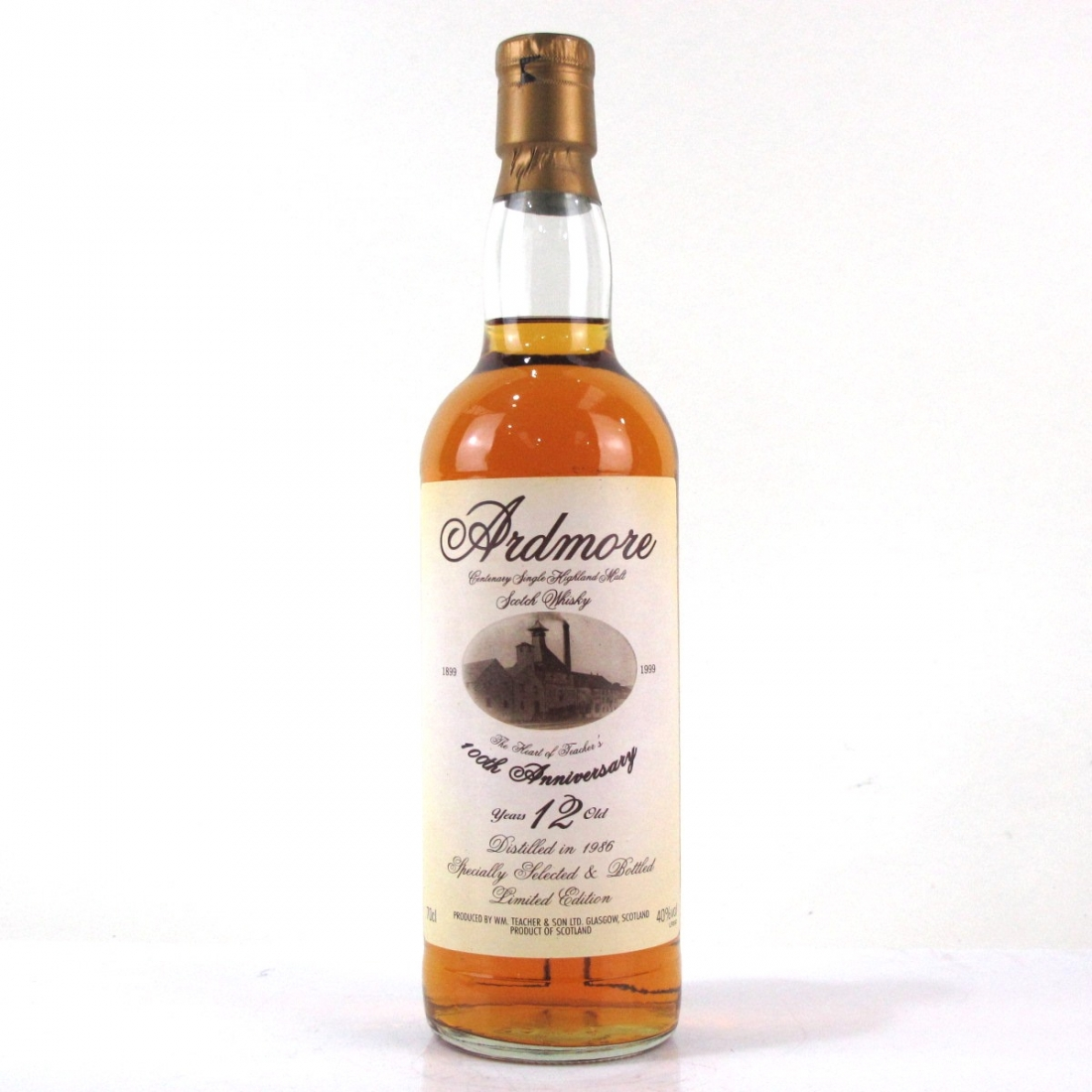 Ardmore 1986 100th Anniversary 12 Year Old