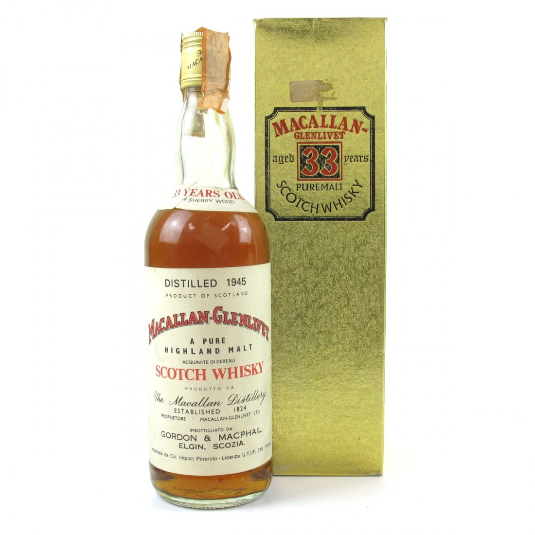Macallan 1945 33 Year Old / Pinerolo Import
