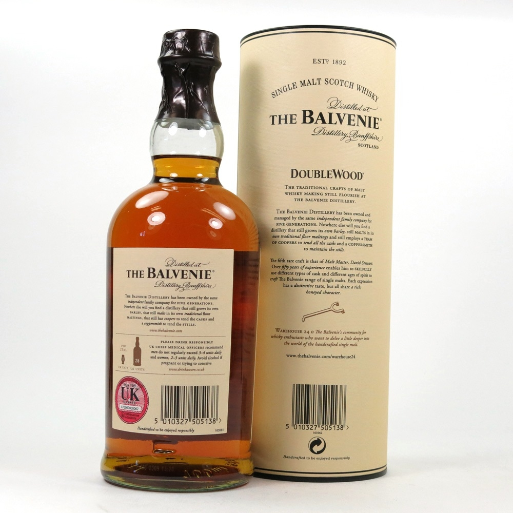 Balvenie 12 Year Old Double Wood Back
