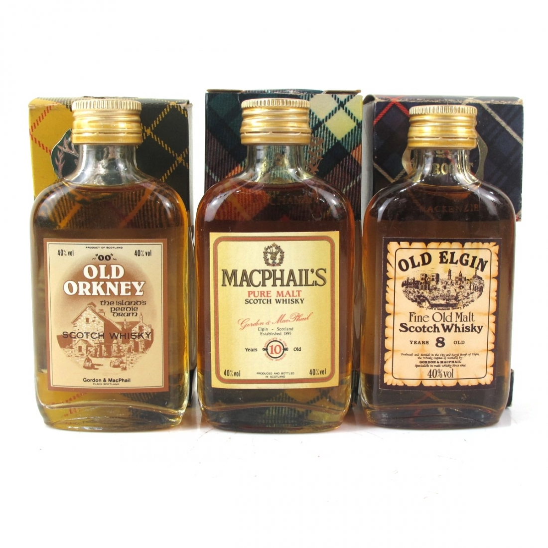 Miscellaneous Blended Gordon and MacPhail Miniatures x 3