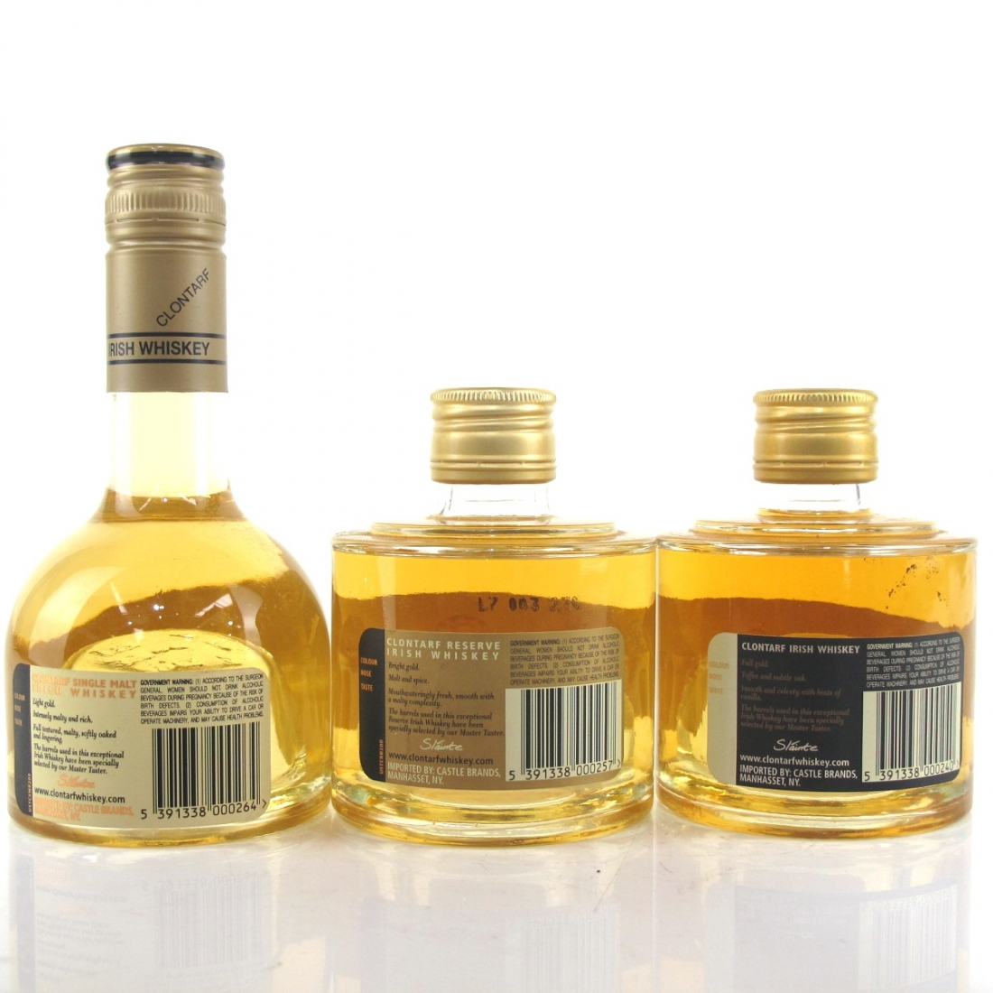 Clontarf Irish Whiskey 3 x 20cl