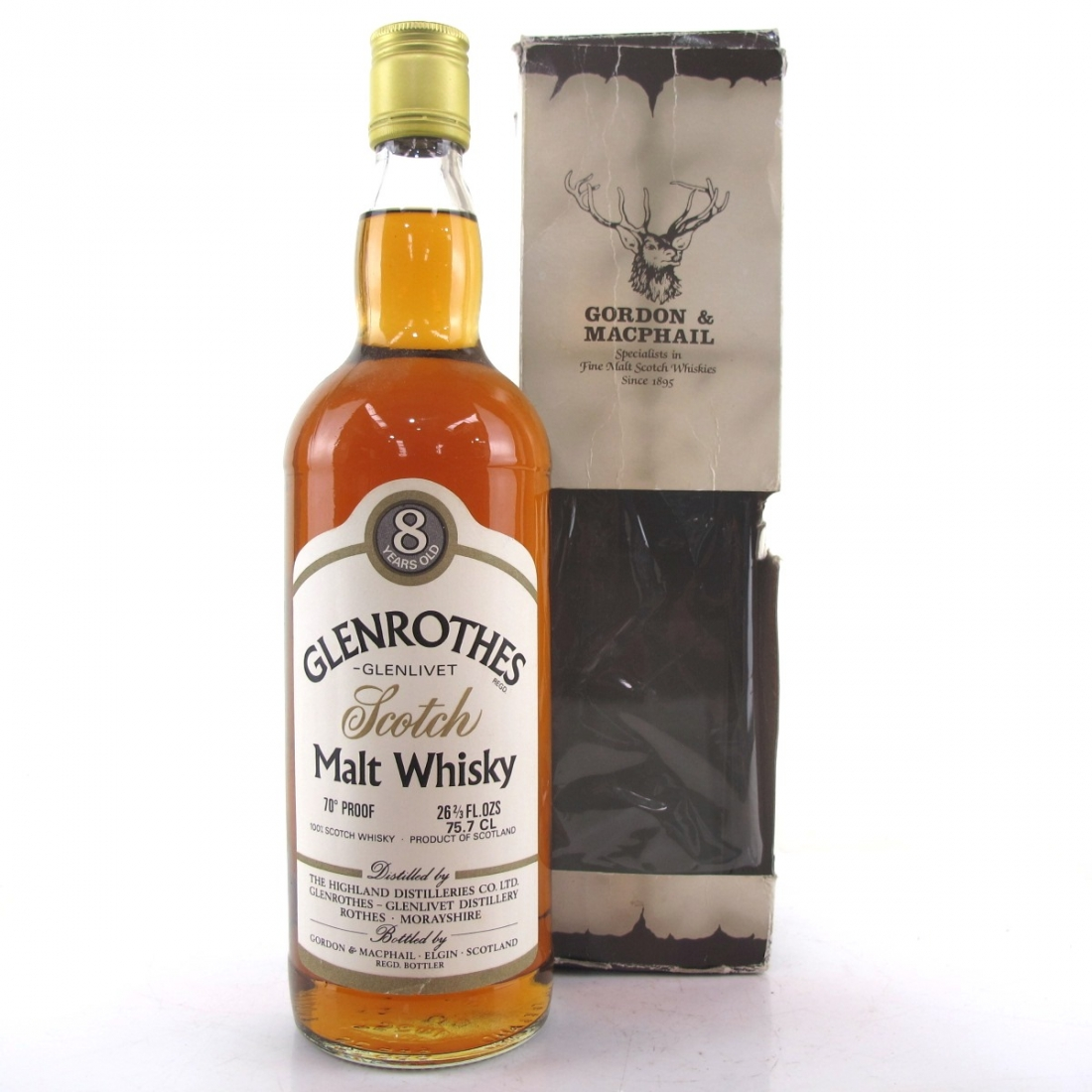 Glenrothes 8 Year Old Gordon and Macphail 1970s