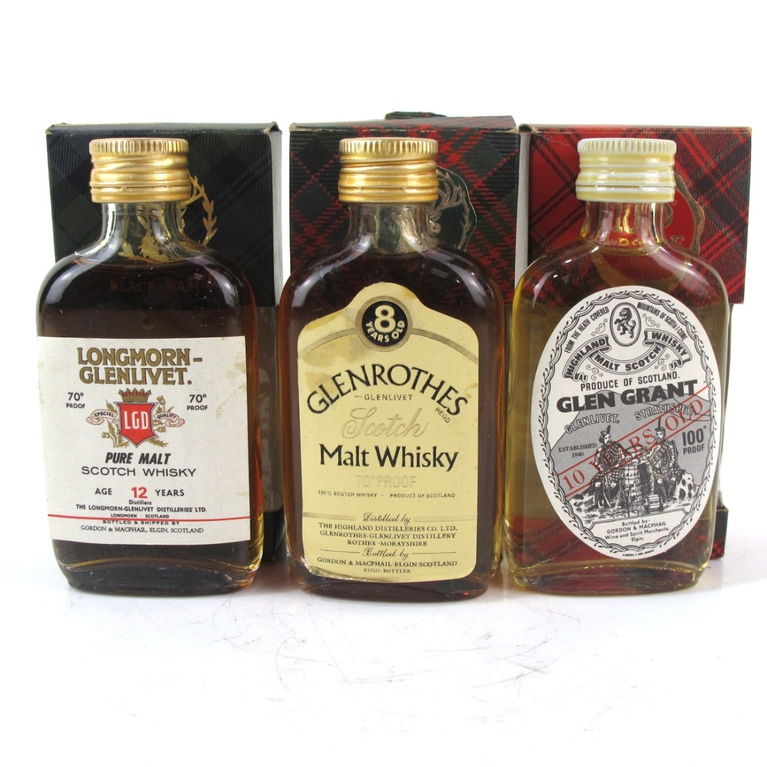 Speyside Gordon and MacPhail Miniature Selection 1970s x 3