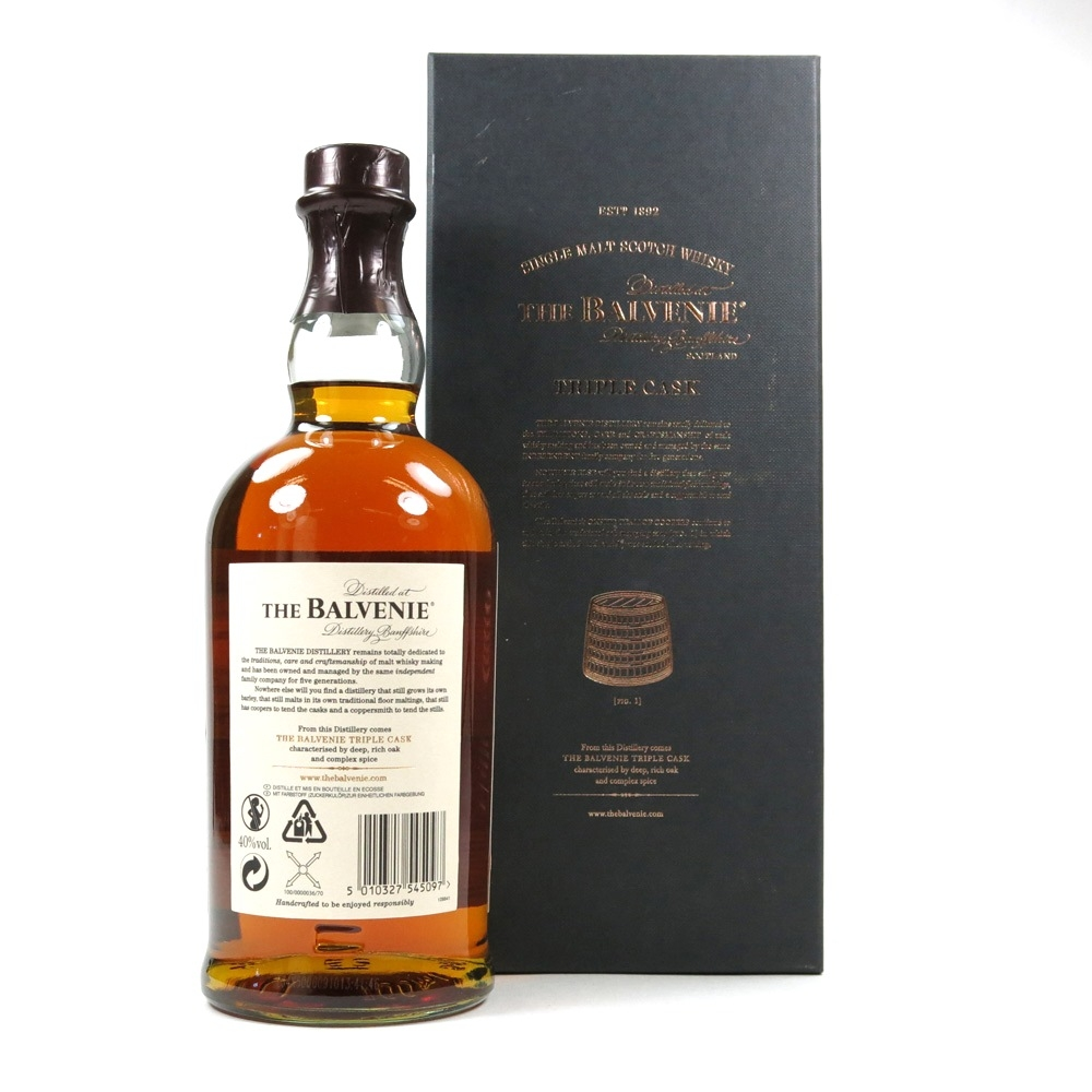 Balvenie 25 Year Old Triple Cask / Travel Retail Exclusive back