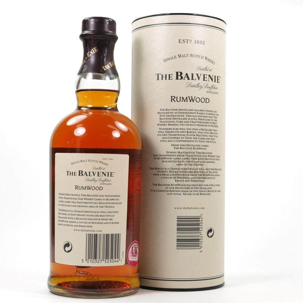 Balvenie 14 Year Old Rum Wood Back