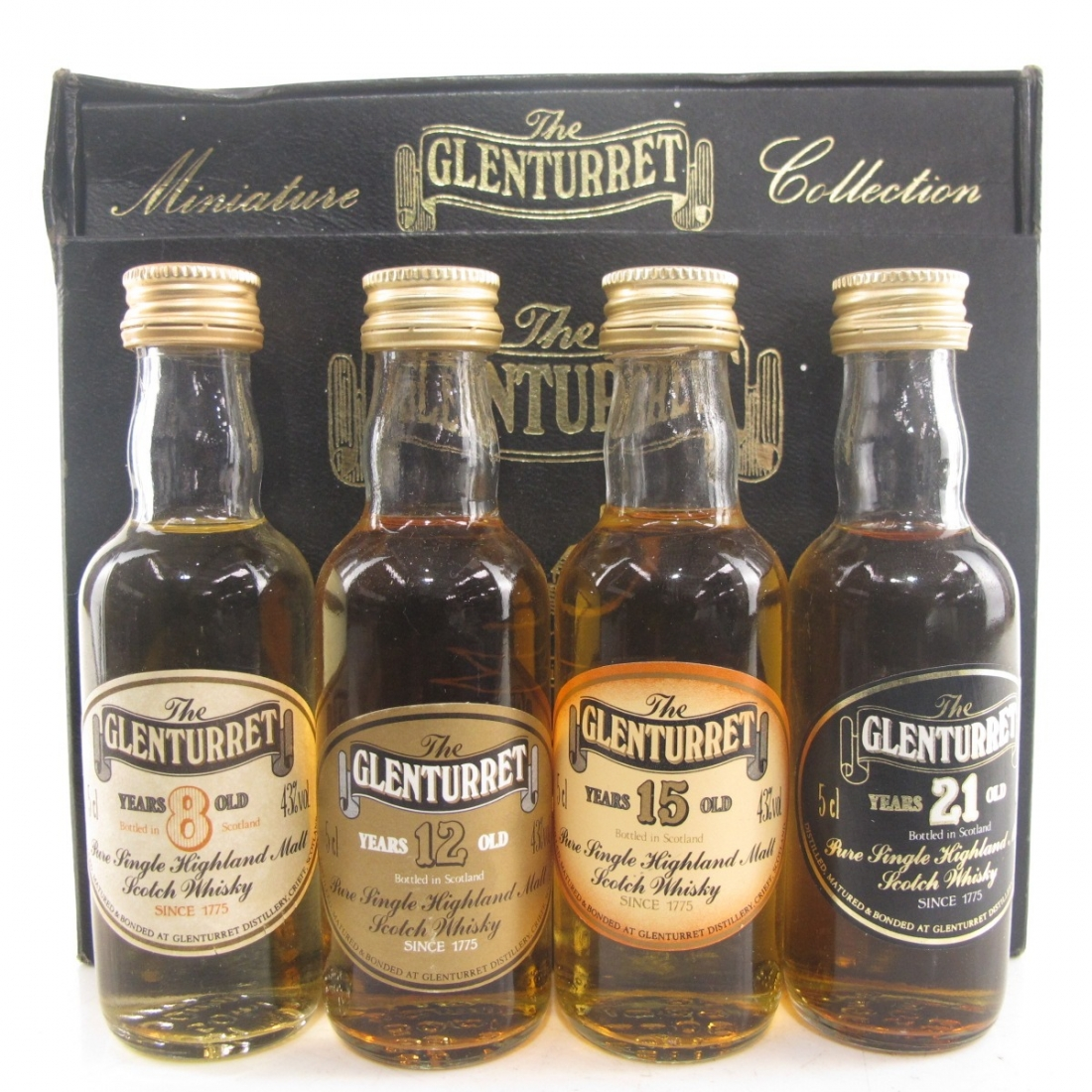 Glenturret Miniature Selection 4 x 5cl / Including 21 Year Old