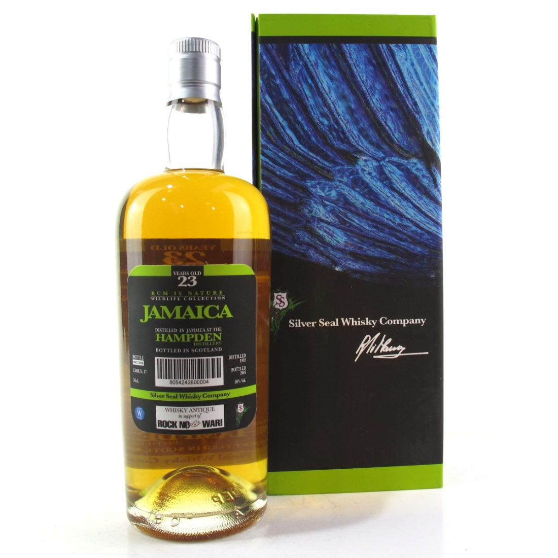 Hampden 1992 Silver Seal 23 Year Old Jamaican Rum