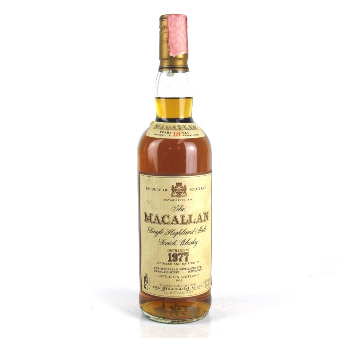 Macallan 18 Year Old 1977 / Giovinetti Import