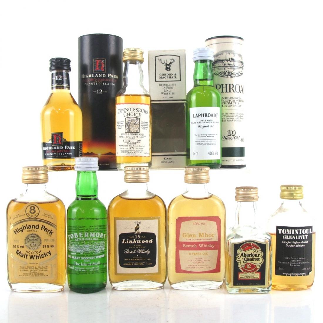 Scotch Malt Whisky Selection 9 x Miniature