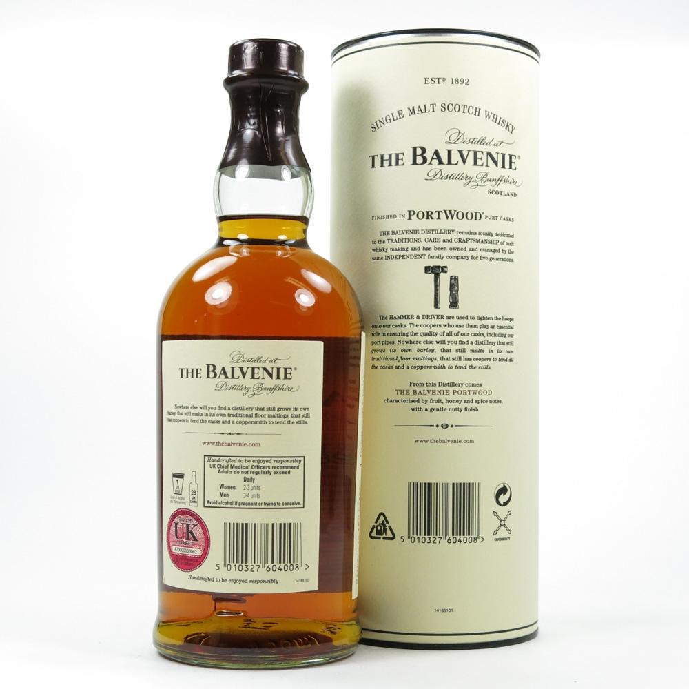 Balvenie 21 Year Old Port Wood Back