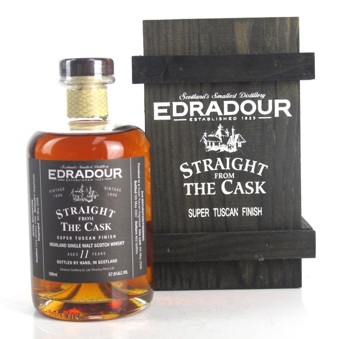 Edradour 1996 Straight from the Cask 11 Year Old 50cl / Super Tuscan Finish