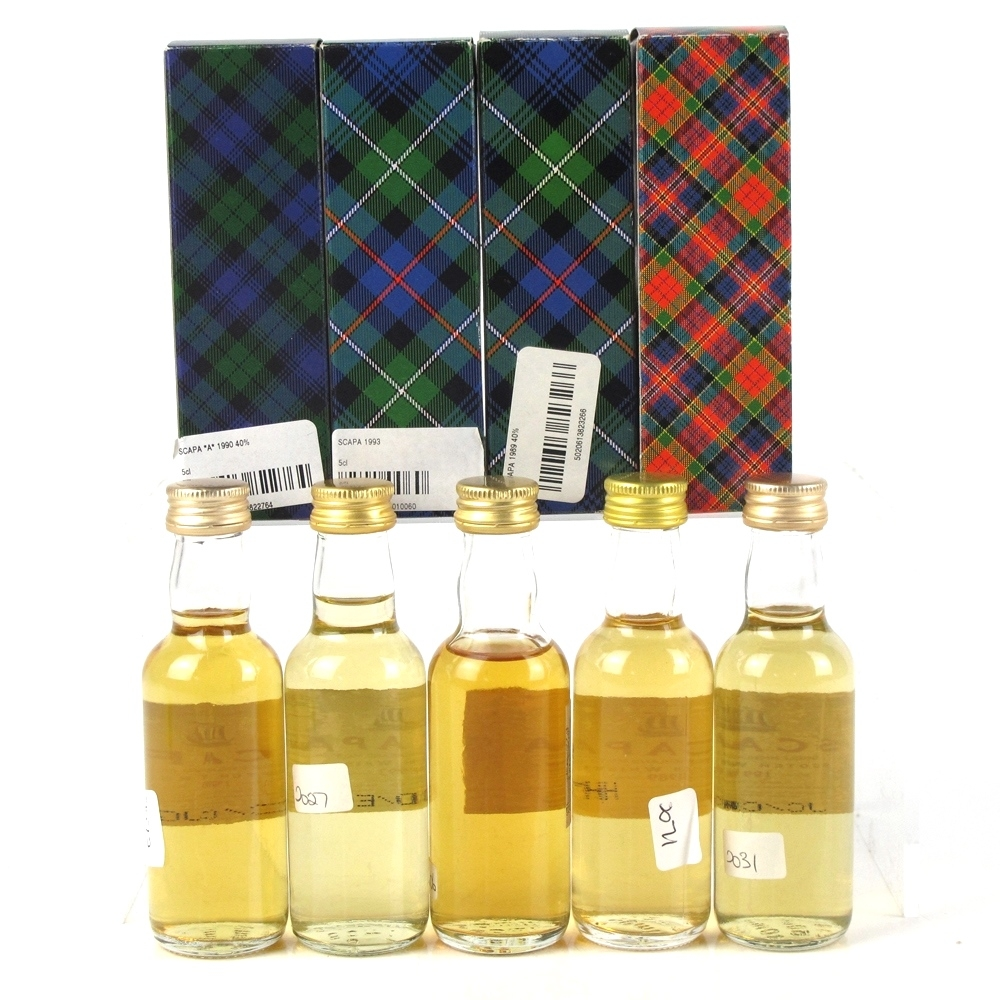 Scapa Gordon and MacPhail Miniatures 5 x 5cl