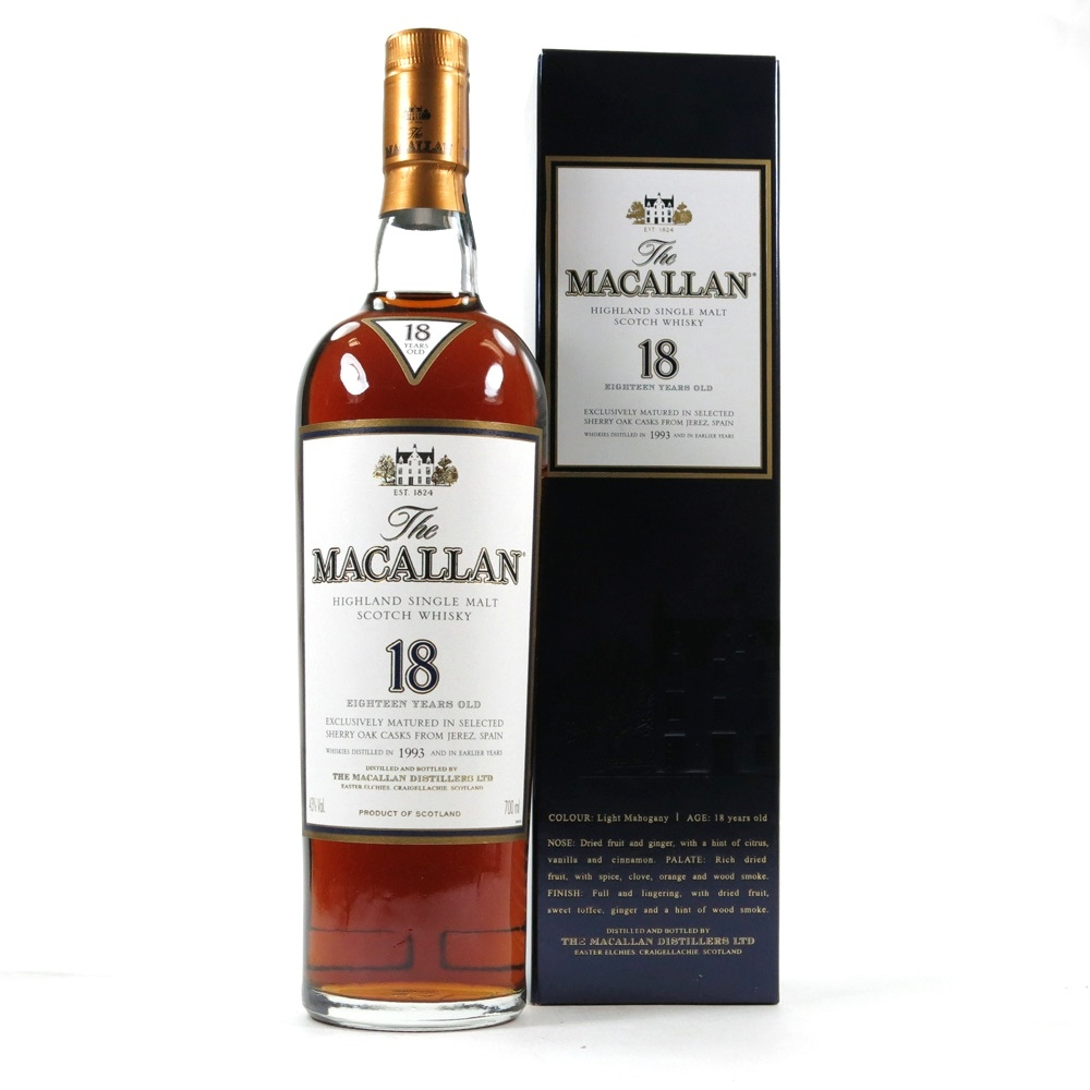 Macallan 1993 18 Year Old Front