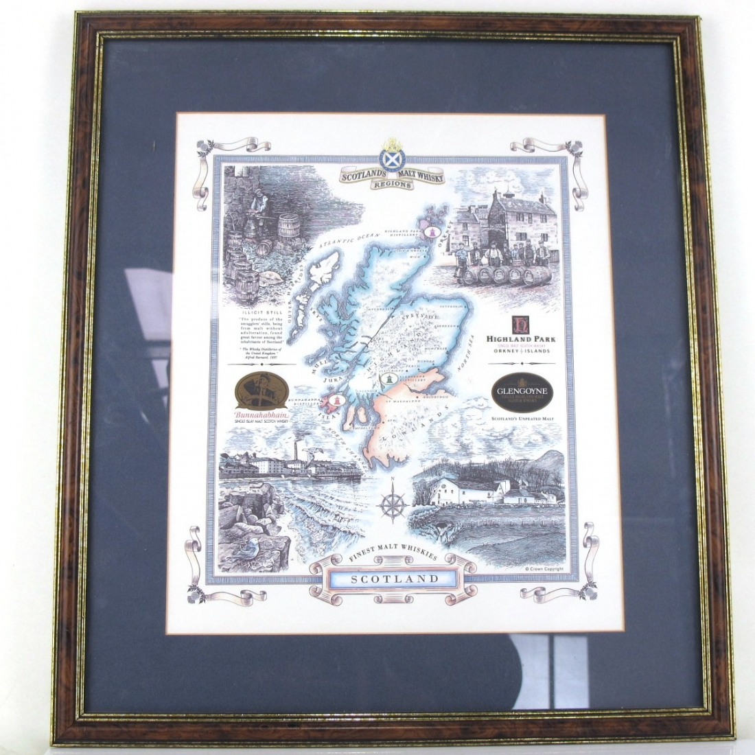 Scotland's Malt Whisky Regions Framed Poster