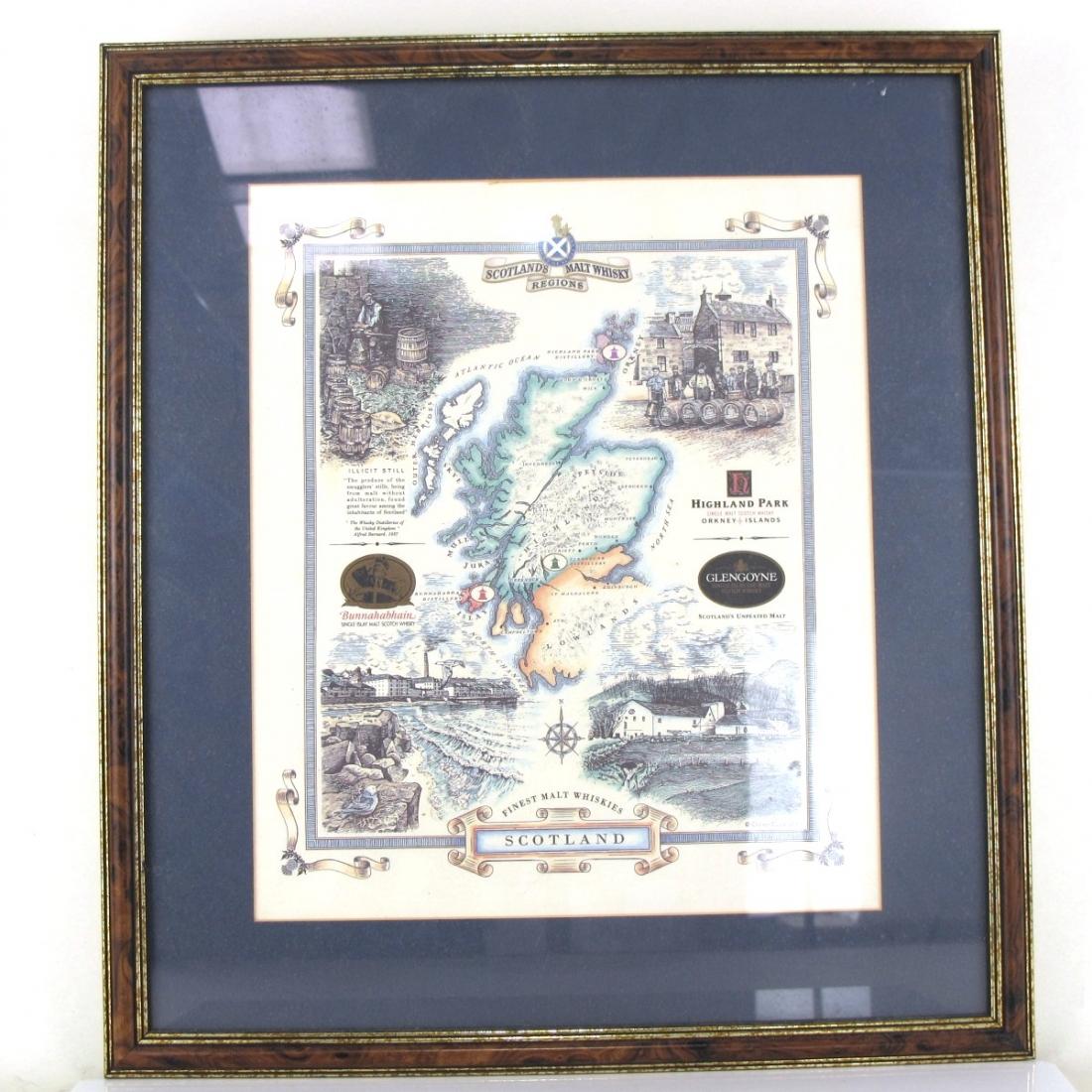 Scotland's Malt Whisky Regions Framed Poster